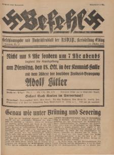 Befehl Nr. 19, 15. Oktober 1932