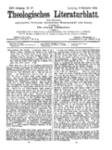 Theologisches Literaturblatt, 9. September 1904, Nr 37.