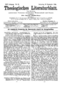 Theologisches Literaturblatt, 16. September 1904, Nr 38.