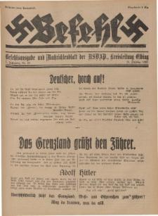 Befehl Nr. 20, 18. Oktober 1932