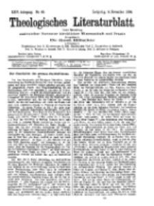 Theologisches Literaturblatt, 4. November 1904, Nr 45.