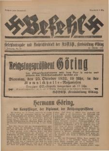 Befehl Nr. 21, 22. Oktober 1932