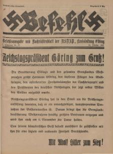 Befehl Nr. 22, 25. Oktober 1932