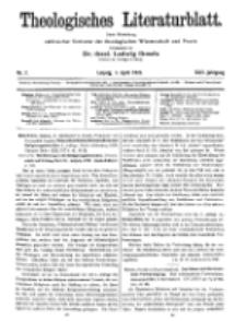 Theologisches Literaturblatt, 1. April 1921, Nr 7.