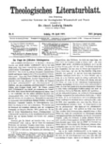 Theologisches Literaturblatt, 29. April 1921, Nr 9.