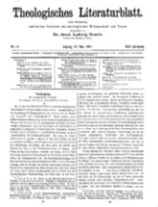 Theologisches Literaturblatt, 27. Mai 1921, Nr 11.