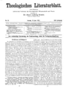 Theologisches Literaturblatt, 10. Juni 1921, Nr 12.