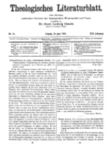 Theologisches Literaturblatt, 24. Juni 1921, Nr 13.