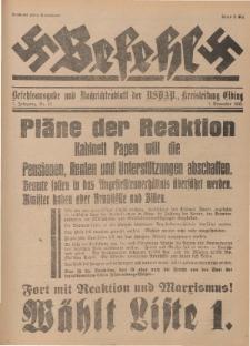 Befehl Nr. 25, 5. November 1932