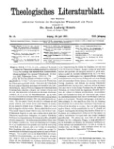 Theologisches Literaturblatt, 22. Juli 1921, Nr 15.