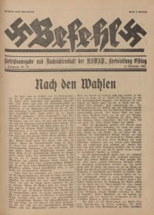 Befehl Nr. 26, 12. November 1932