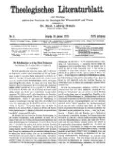 Theologisches Literaturblatt, 20. Januar 1922, Nr 2.