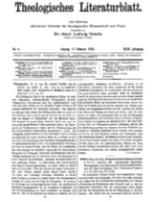 Theologisches Literaturblatt, 17. Februar 1922, Nr 4.