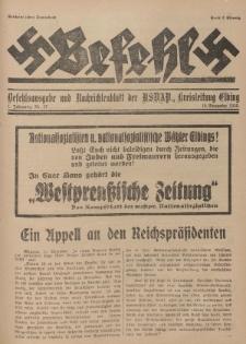 Befehl Nr. 27, 19. November 1932