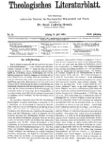 Theologisches Literaturblatt, 21. Juli 1922, Nr 15.