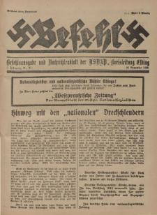 Befehl Nr. 28, 26. November 1932