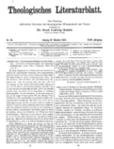 Theologisches Literaturblatt, 27. Oktober 1922, Nr 22.