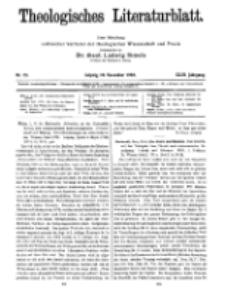 Theologisches Literaturblatt, 10. November 1922, Nr 23.