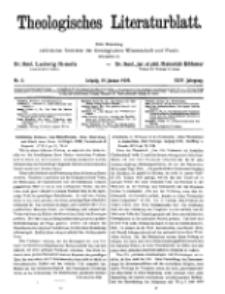 Theologisches Literaturblatt, 19. Januar 1923, Nr 2.