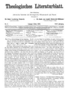 Theologisches Literaturblatt, 2. März 1923, Nr 5.