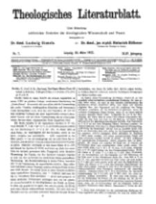 Theologisches Literaturblatt, 30. März 1923, Nr 7.