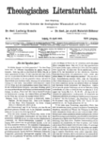 Theologisches Literaturblatt, 13. April 1923, Nr 8.