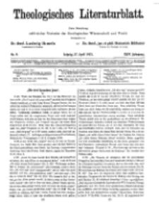 Theologisches Literaturblatt, 27. April 1923, Nr 9.