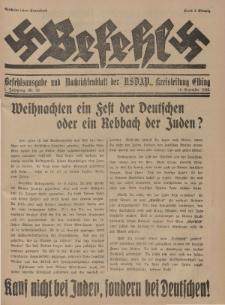 Befehl Nr. 30, 10. Dezember 1932