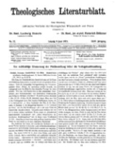 Theologisches Literaturblatt, 8. Juni 1923, Nr 12.