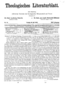 Theologisches Literaturblatt, 20. Juli 1923, Nr 15.