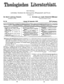 Theologisches Literaturblatt, 28. September 1923, Nr 20.