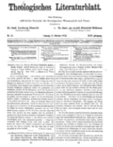 Theologisches Literaturblatt, 12. Oktober 1923, Nr 21.