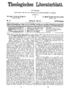 Theologisches Literaturblatt, 22. Juli 1927, Nr 15.