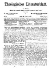 Theologisches Literaturblatt, 30. September 1927, Nr 20.