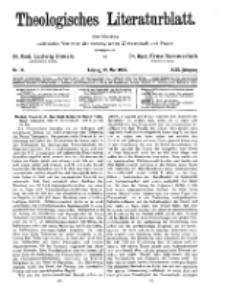 Theologisches Literaturblatt, 25. Mai 1928, Nr 11.