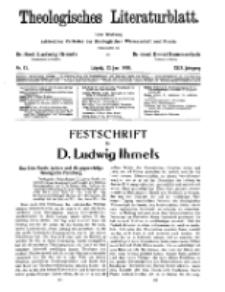 Theologisches Literaturblatt, 22. Juni 1928, Nr 13.