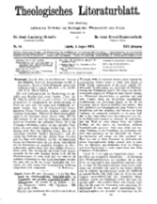 Theologisches Literaturblatt, 3. August 1928, Nr 16.
