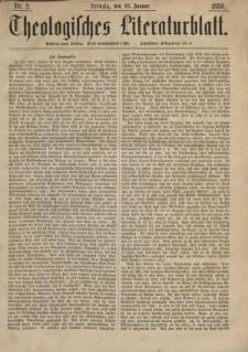 Theologisches Literaturblatt, 16. Januar 1880, Nr 2.