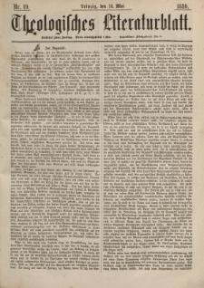 Theologisches Literaturblatt, 14. Mai 1880, Nr 19.