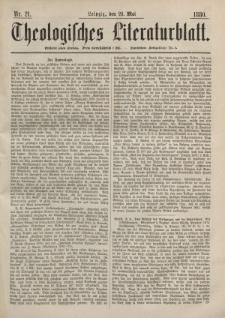 Theologisches Literaturblatt, 28. Mai 1880, Nr 21.