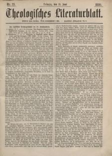 Theologisches Literaturblatt, 11. Juni 1880, Nr 23.