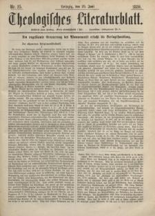 Theologisches Literaturblatt, 25. Juni 1880, Nr 25.