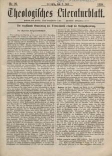 Theologisches Literaturblatt, 2. Juli 1880, Nr 26.