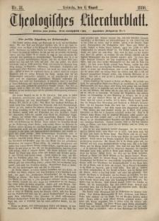 Theologisches Literaturblatt, 6. August 1880, Nr 31.