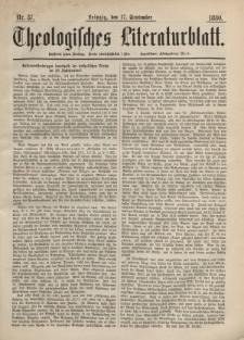 Theologisches Literaturblatt, 17. September 1880, Nr 37.