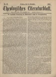 Theologisches Literaturblatt, 24. September 1880, Nr 38.