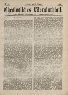 Theologisches Literaturblatt, 29. Oktober 1880, Nr 43.