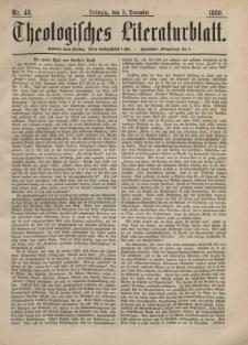 Theologisches Literaturblatt, 3. Dezember 1880, Nr 48.