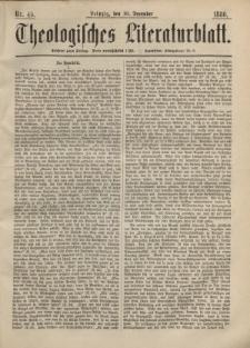 Theologisches Literaturblatt, 10. Dezember 1880, Nr 49.