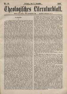 Theologisches Literaturblatt, 17. Dezember 1880, Nr 50.